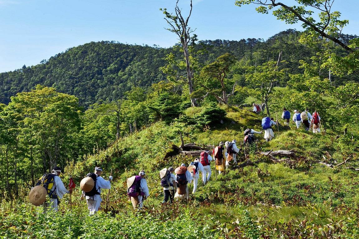 Shugenja-Gruppe auf einem Berg