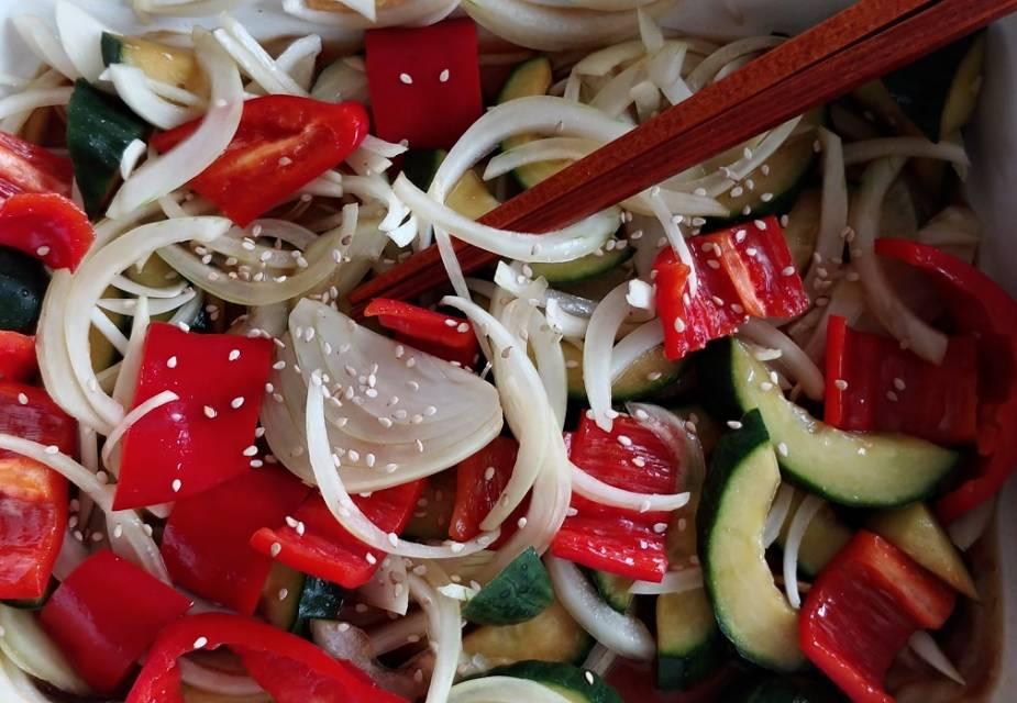 verschiedenes Gemüse in Sojasauce Tsukemono