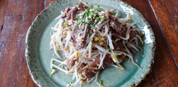 Rindfleisch mit Sojasprossen
