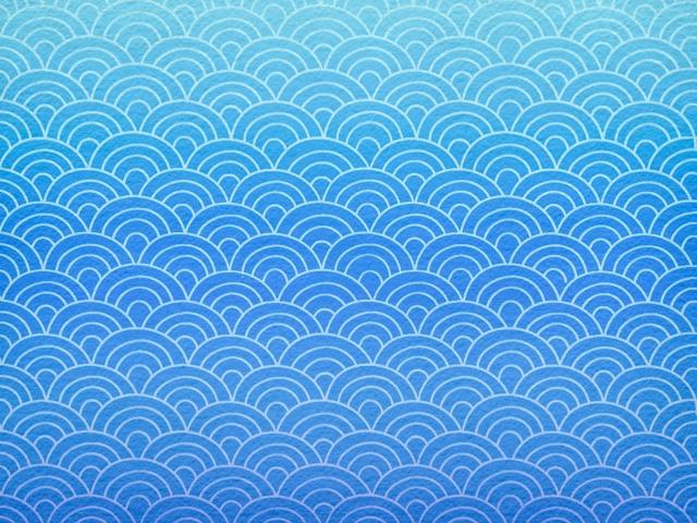 Meereswellenmuster (Seigaiha)