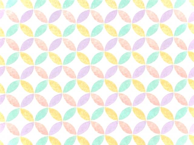 Shippō-Muster in Mintgrün, Gelb und Rosa