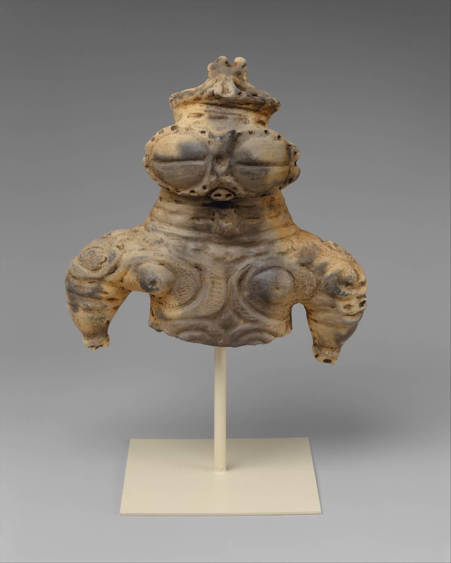 Dogū mit riesigen Augen aus der Späten Jōmon-Zeit (1000-300 v. Chr.)
