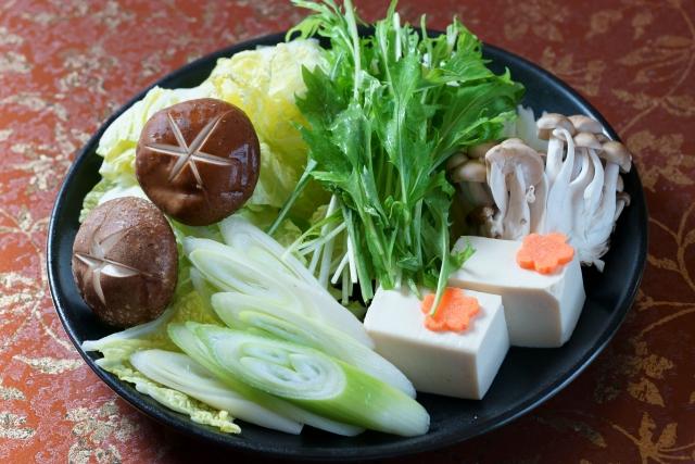 Typisches Gemüse für Nabemono