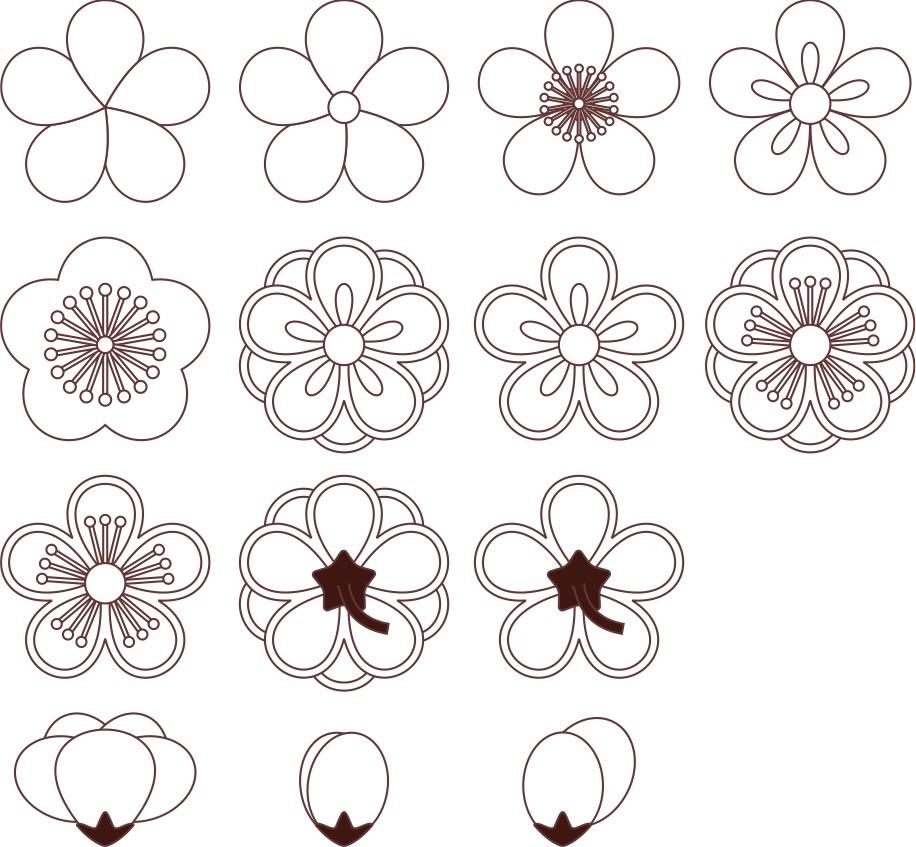 Pflaumenblütenmuster (Variationen)
