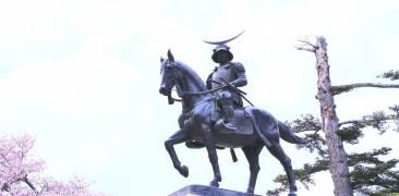 Statue von Date Masamune in Sendai