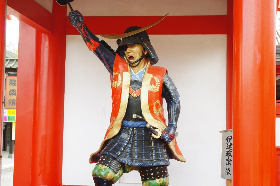 Statue von Date Masamune in Hokkaido