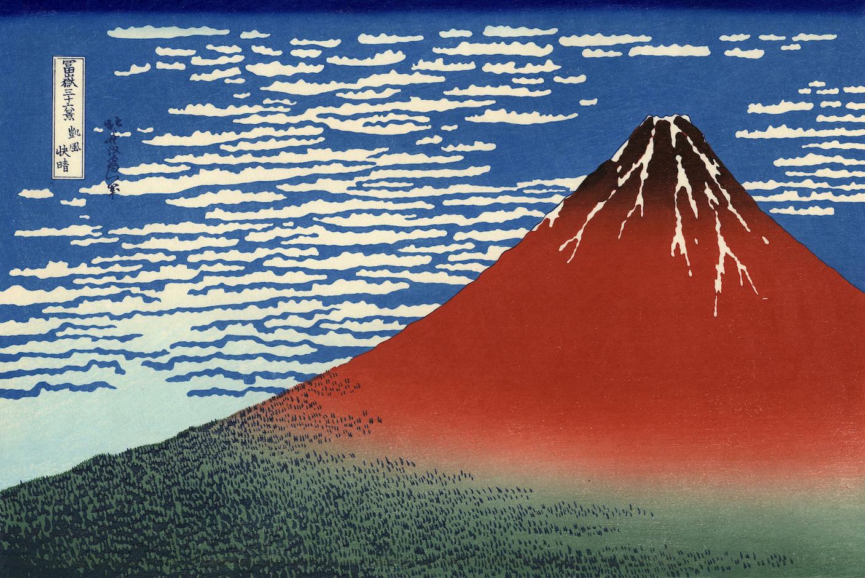 Roter Fuji (Bild von Hokusai)