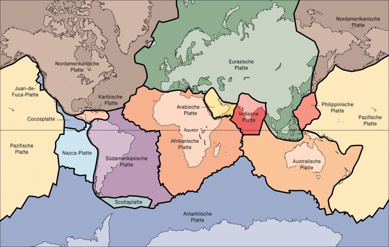 Karte der tektonischen Platten