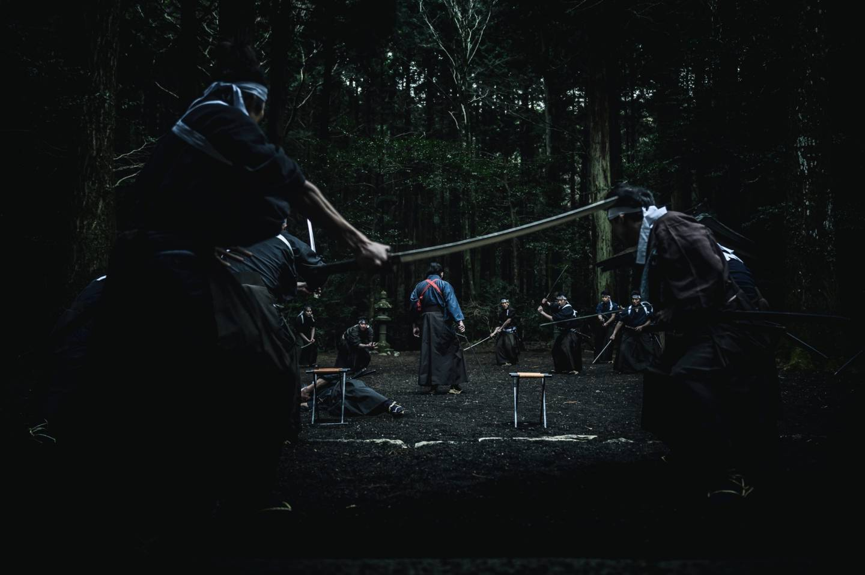 Szene aus dem Film CRAZY SAMURAI MUSASHI von Regisseur Shimomura Yūji mit Sakaguchi Taku in der Hauptrolle. © JUMPEI TAINAKA