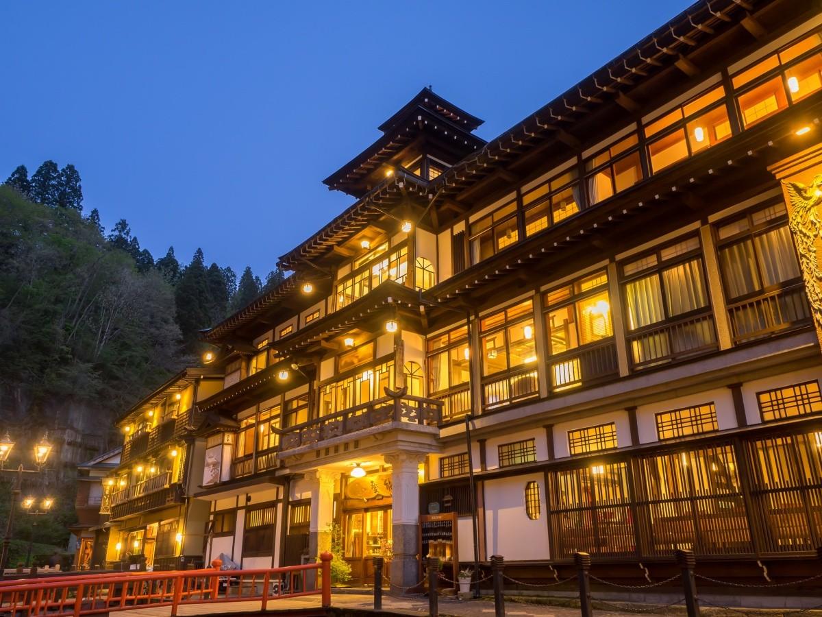 Ryokan bei Nacht