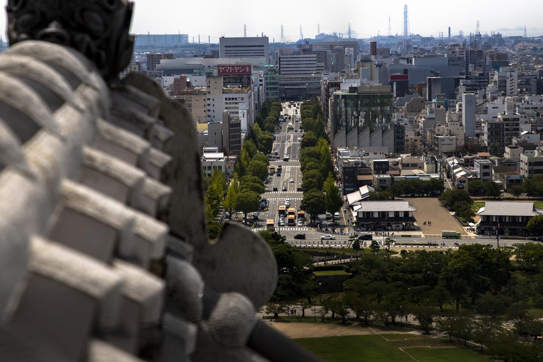 Burg Himeji Aussicht