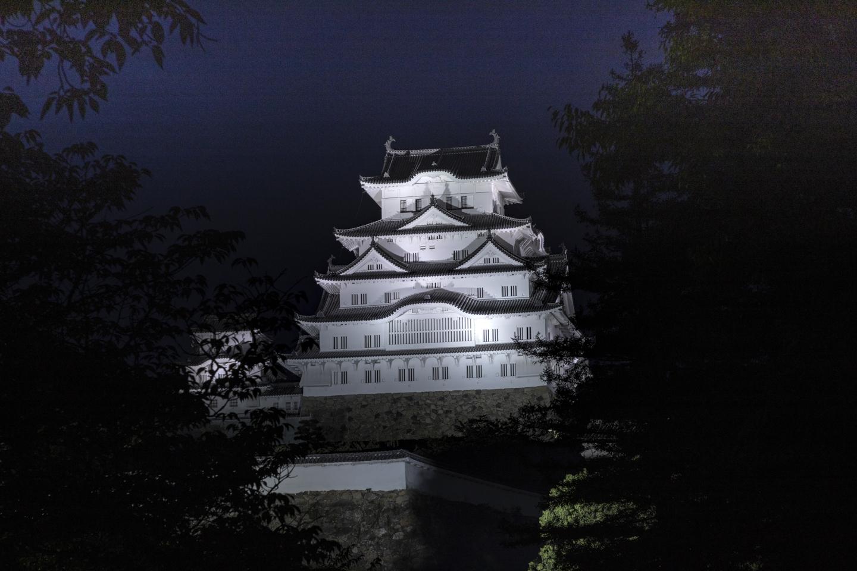 Burg Himeji am Abend