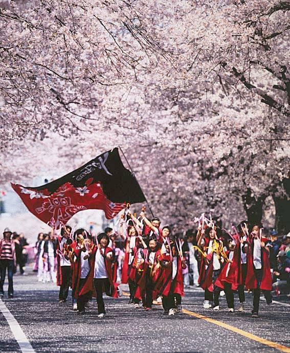 """Sakura YOSAKOI"" in Tomioka (Präfektur Fukushima)"