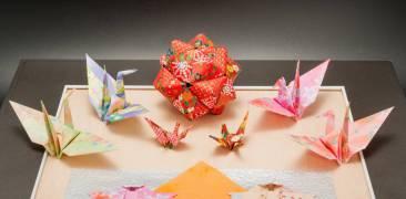 Verschiedene Origami-Figuren