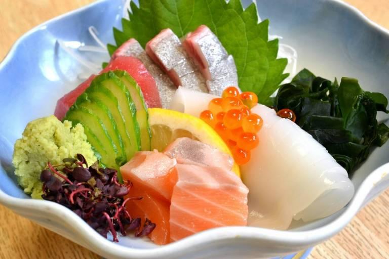 Japanisches Fischgericht