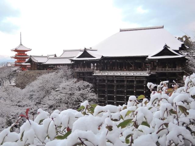 Kiyomizu-dera im Winter