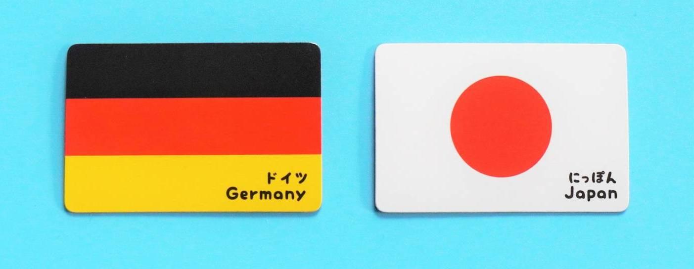 Deutschland Japan Flaggen