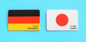 Deutschland Japan Flaggen