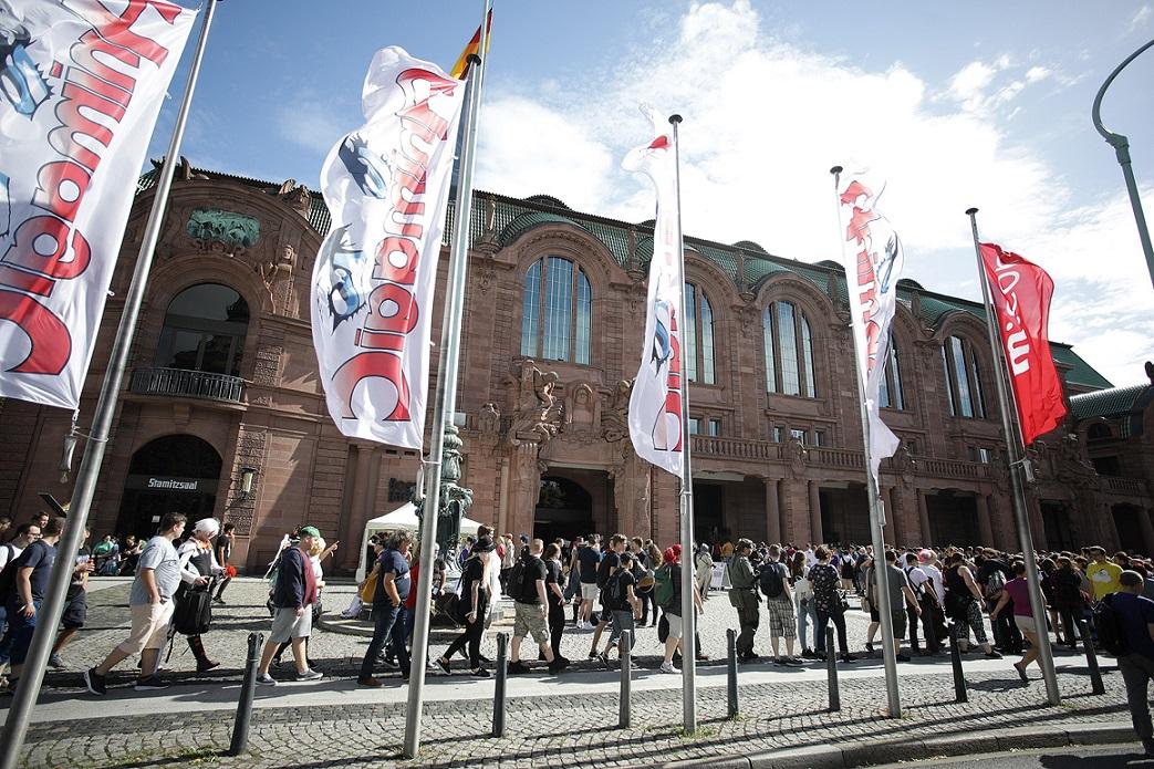 Außengelände der AnimagiC in Mannheim.