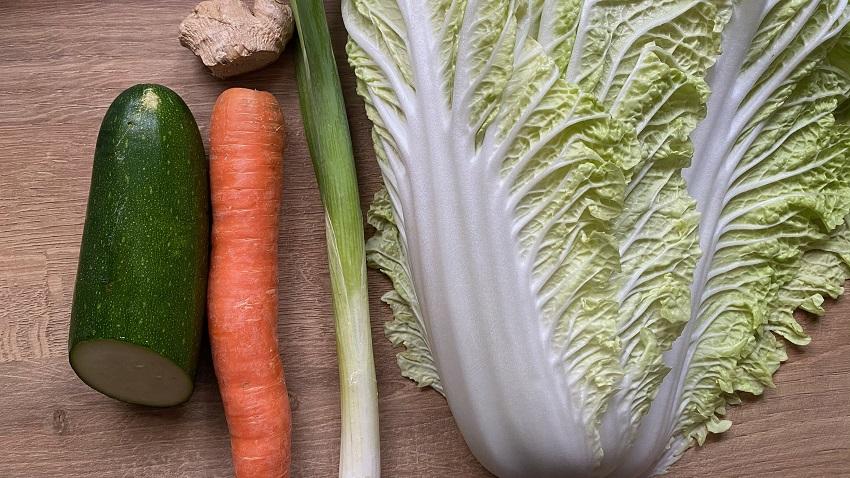 Gemüse für das Gericht