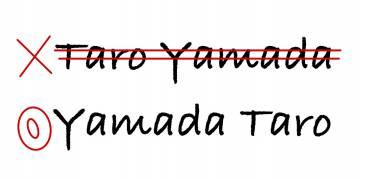 Yamada Taro oder Taro Yamada