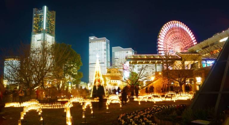 Weihnachtsdekoration in Japan