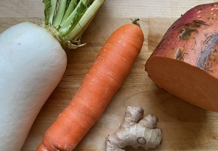 Zutaten für Bauernsuppe