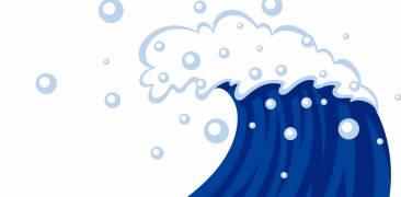 Hohe Meereswelle