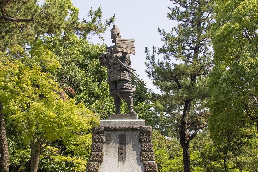 Statue von Oda Nobunaga in Kiyosu
