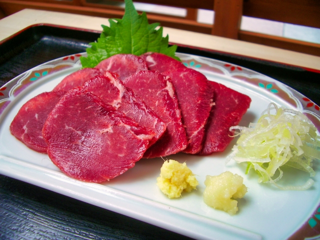 Sashimi aus Pferdefleisch