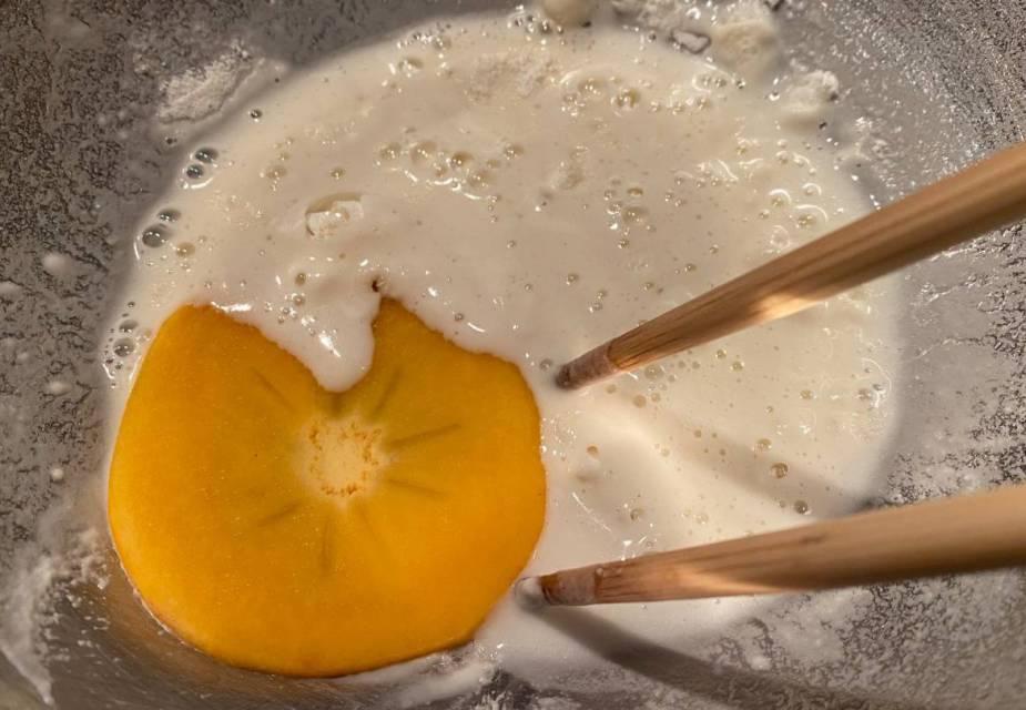 Zubereitung von Kaki-Tempura
