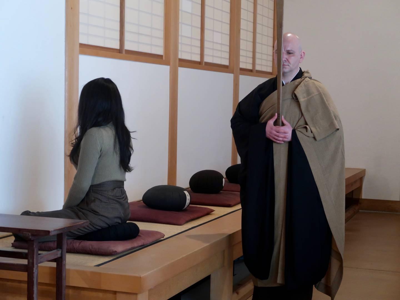 Zen-Meditation im Sōji-ji Soin Tempel.