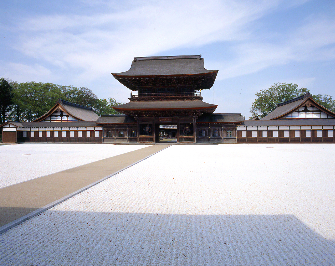 Zuiryū-ji Tempel, blauer Himmel, Sonnenschein