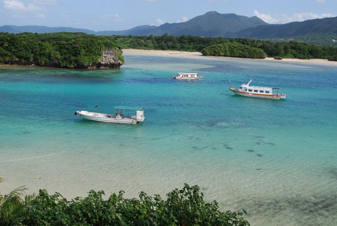 Die Kabira-Bucht auf Ishigaki.