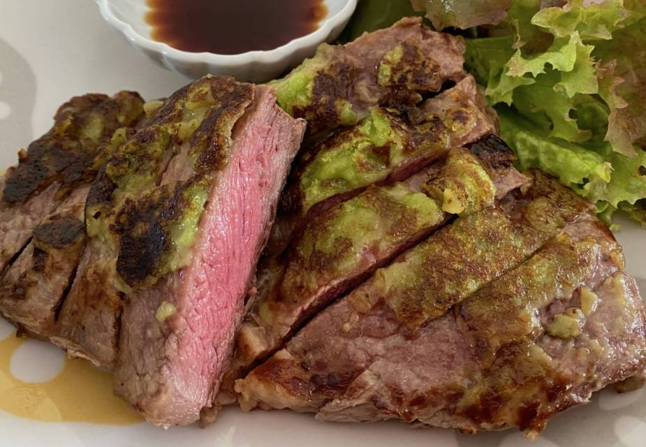 Fertiges Wasabi-Steak