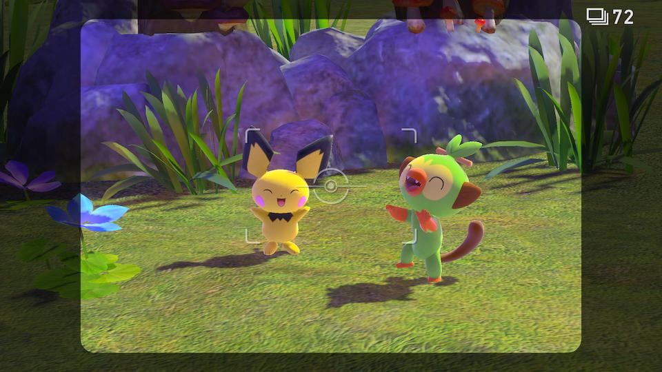 """Szene aus dem Spiel """"New Pokémon Snap"""""""