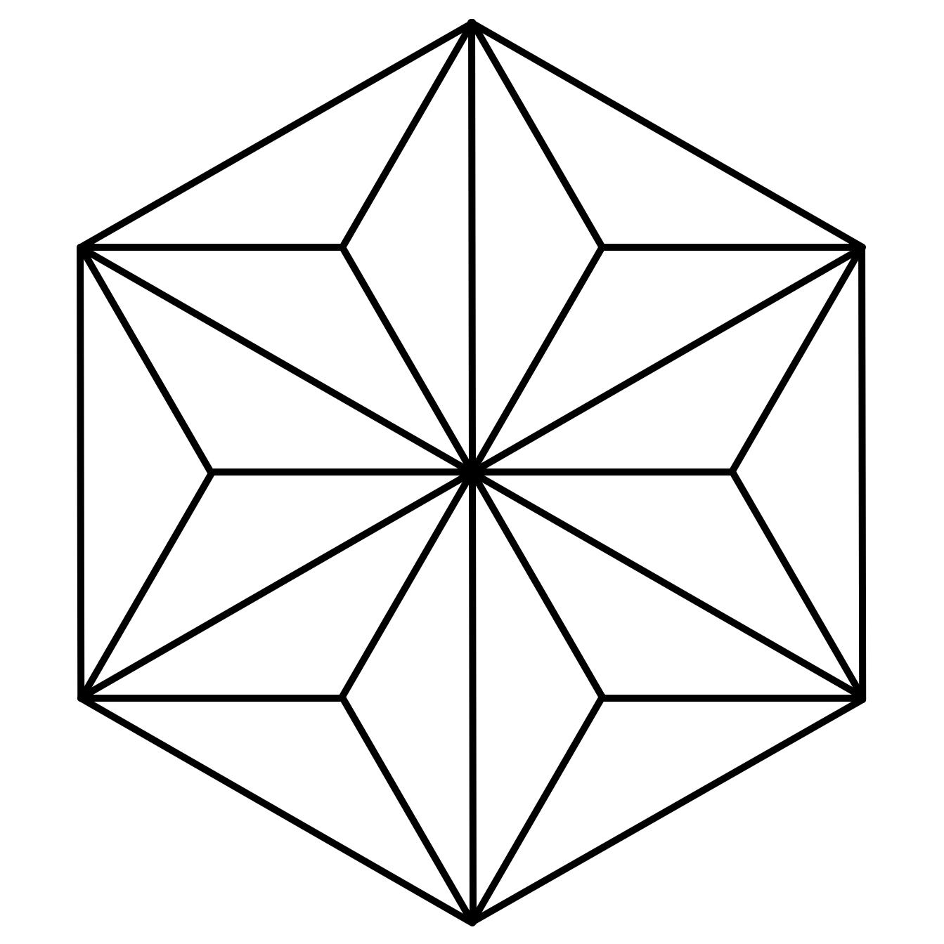 Grundform des Asa no ha-Musters