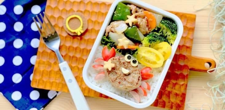 Bento-Box mit fröhlichem Krebs