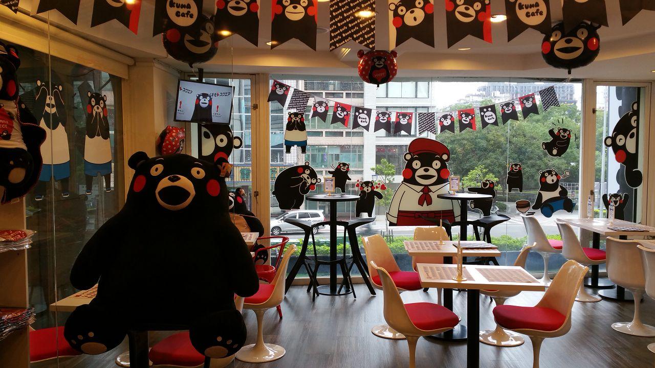 Kumamon Cafe in Taipei